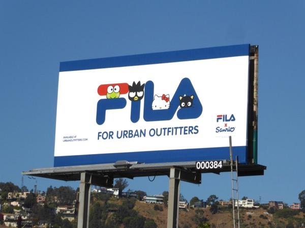 FILA Urban Outfitters billboard