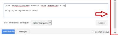 Menghilangkan scroll pada komentar blog