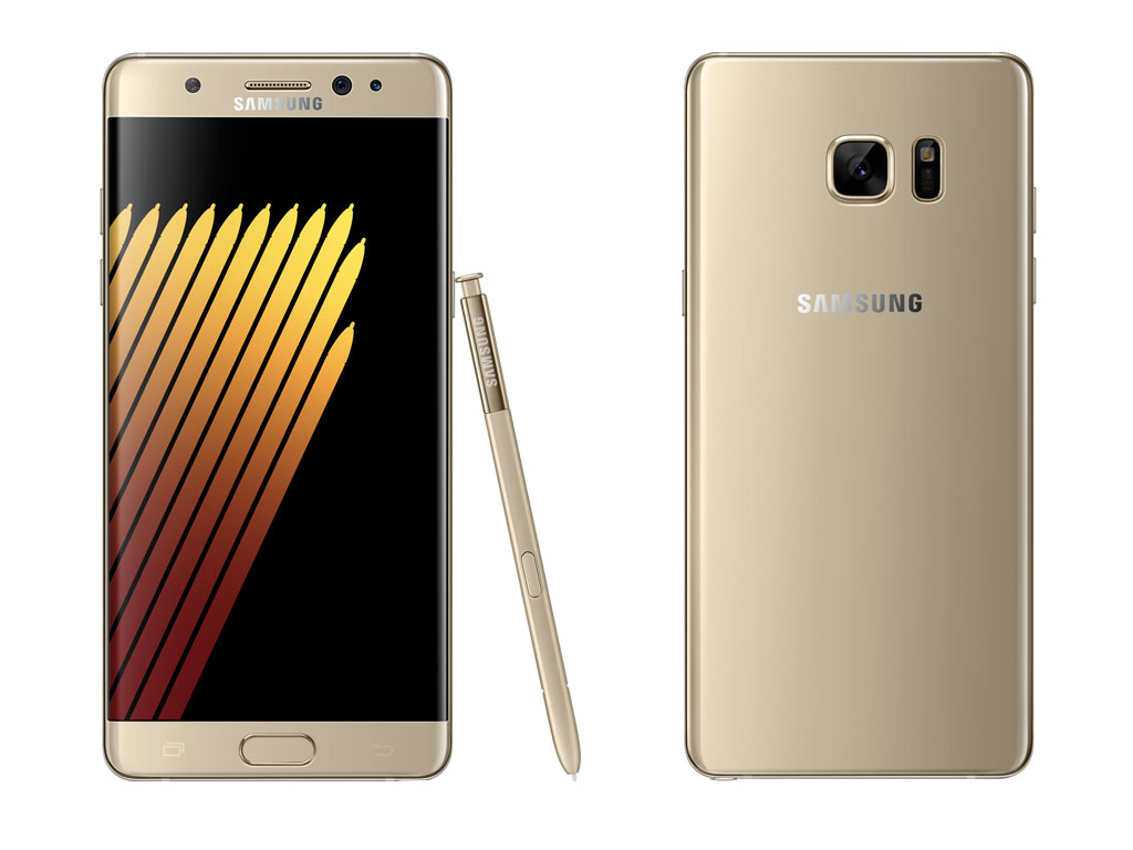 Samsung Galaxy Note7 Gold Platinum