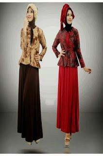 Gamis Batik Kombinasi Brokat Terbaru