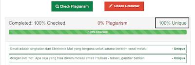 Hasil Cek Tingkat Plagiat Artikel