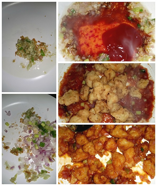 Step by step pictures of how to make Gobi Manchurian