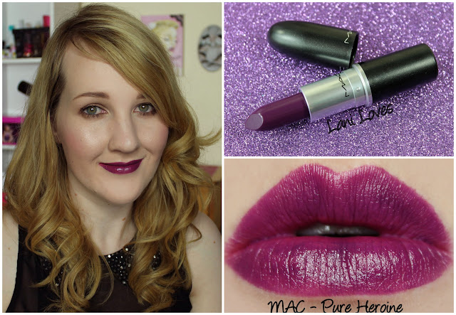 MAC Pure Heroine lipstick swatch
