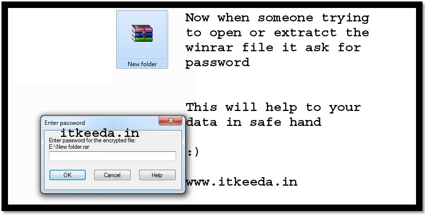 How to Password protect the Winrar file 5