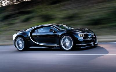 Bugatti Chiron Noire Vitesse - Fond d'Écran en Full HD 1080p