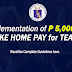P5,000 Net Take Home Pay for Teachers