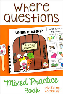 "Where is Bunny? interactive book with garden-gate pages and moveable garden-themed pieces. Teach the concepts of ""next to"" and ""between"" with this book."
