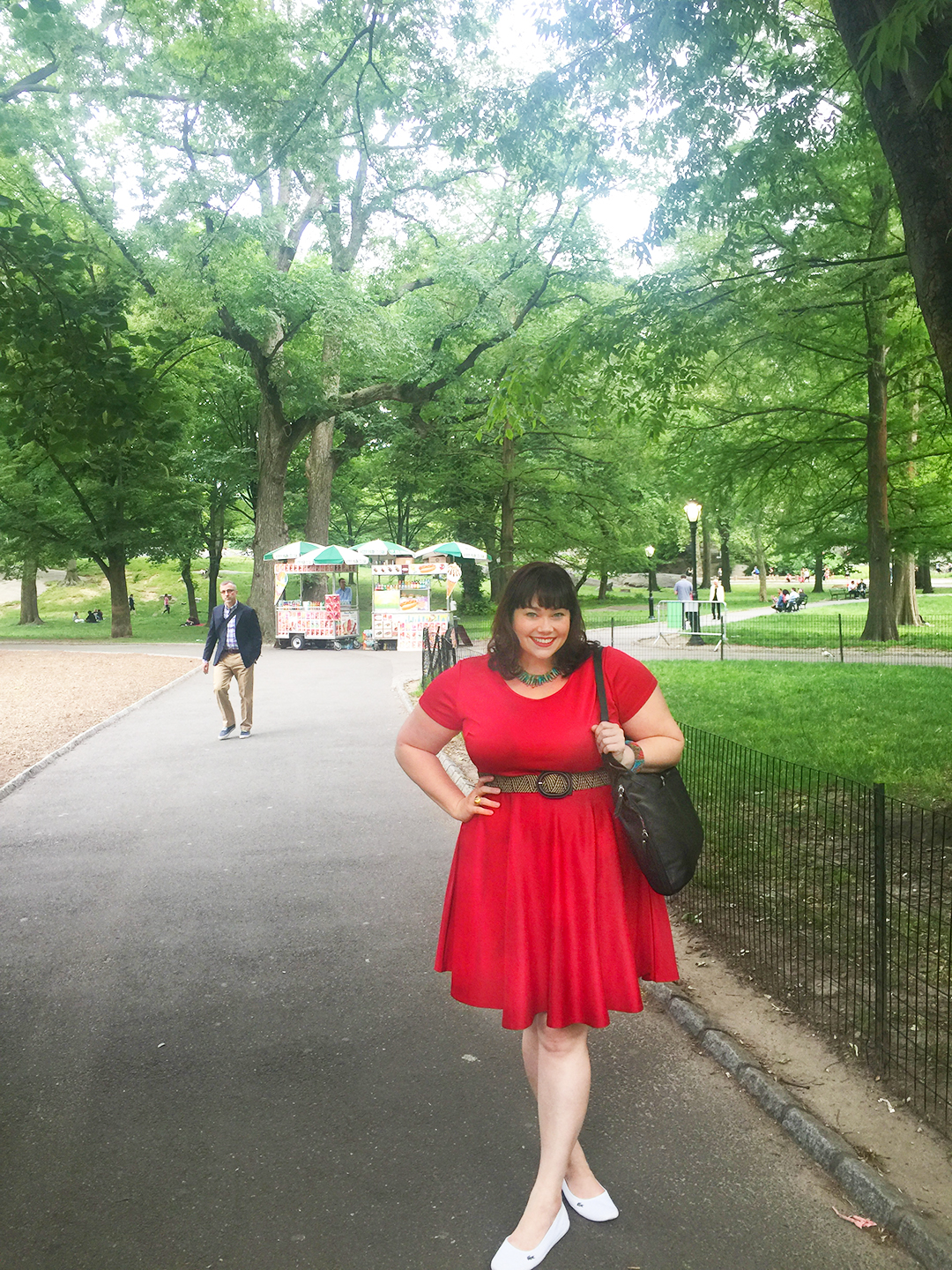 Society Plus Skater Dress, Plus Size Skater Dress, Plus Size Blogger Amber from Style Plus Curves Walking Through Central Park