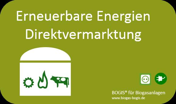 Neu in BOGIS - Direktvermarktung von Strom aus Erneuerbaren Energien.