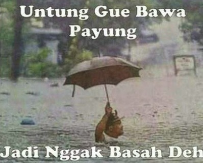 Meme Tentang Banjir Lucu