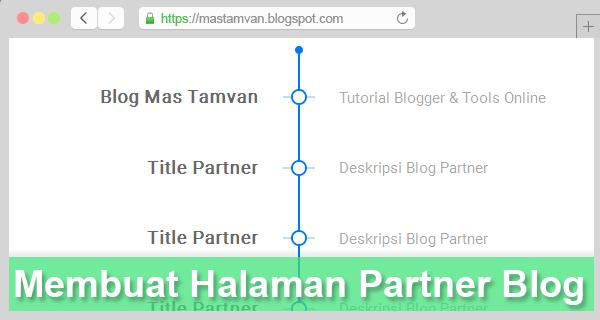 Membuat Halaman Link Partner Seperti Blog Mas Tamvan