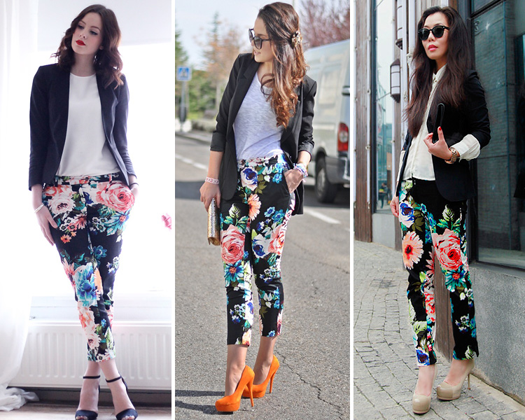 Como Combinar Un Pantalon Estampado De Flores