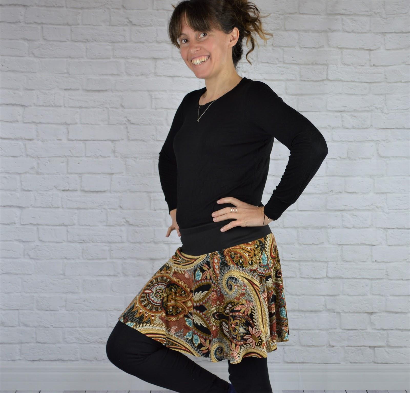 falda handmade estampado étnico