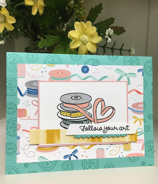 Stampin' Up!, Follow Your Art suite, www.stampingwithsusan.com, 2019-2020 Annual Catalog Sneak Peek, Perenial Flower Punch