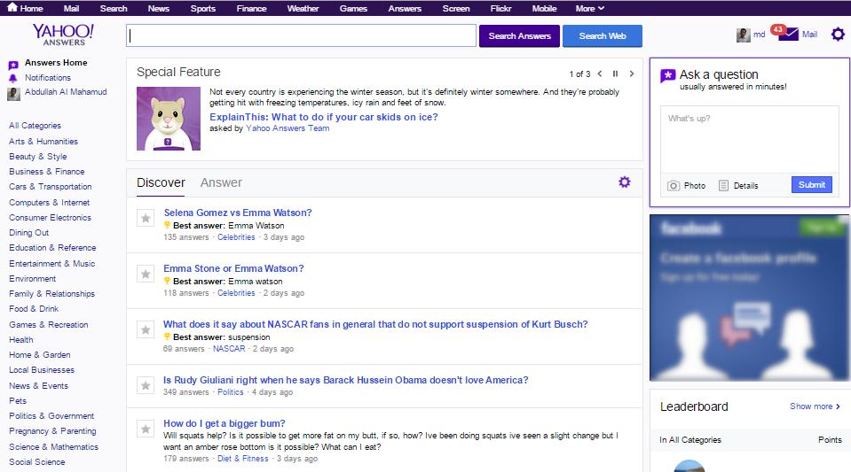 Yahoo ! answers