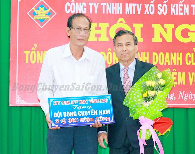 Đội nam Vĩnh Long nhận 2,3 tỷ đồng tài trợ từ công ty xổ số
