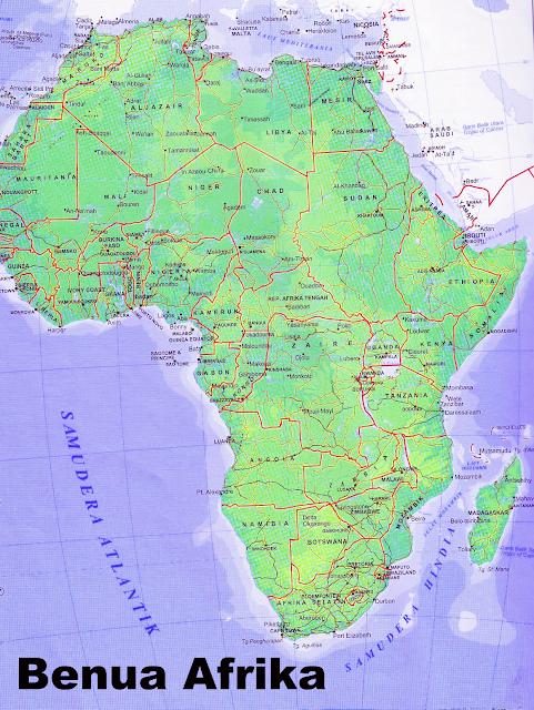 Gambar Peta Benua Afrika lengkap