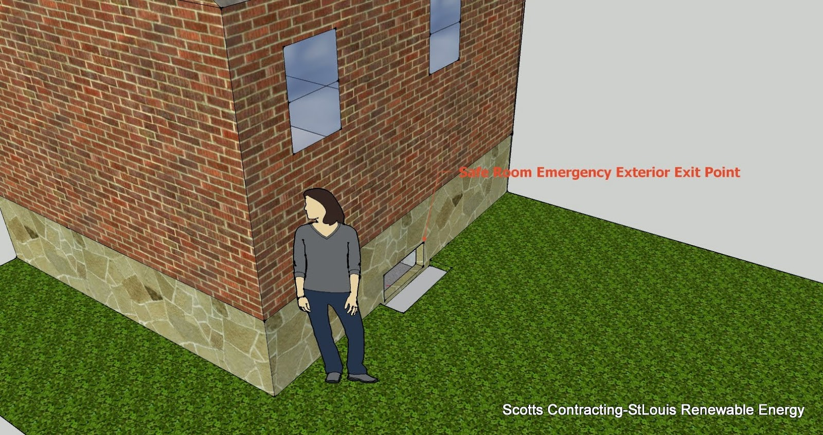 CAD Design by Scotty-Safe Room Exterior Exit Point
