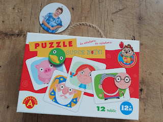 Gra dla maluchów. Recenzja puzzle super buźki na blogu atrakcyjne wakacje z dzieckiem