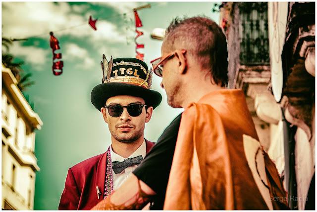 Super Tarton et Luis de la fanfare brass band Tahar Tag'l Taaartagueule TTGL au festival des fanfares à Montpellier le samedi 01 juillet 2017