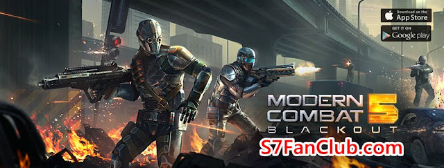 Download Modern Combat 5 for Samsung Galaxy S7 or Galaxy S7 Edge