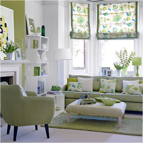 Key Interiors by Shinay: Blue and Green Living Rooms