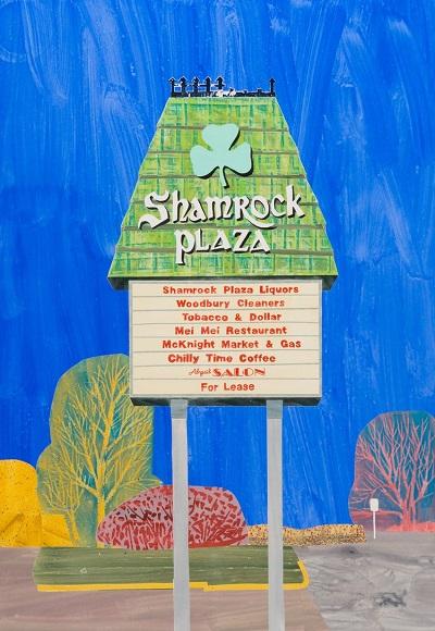 """Shamrock Plaza, St Paul"" by Carolyn Swiszcz, 2017 - Watercolor monoprint | obra de arte pop, imagenes bonitas, bellas, hermosas."
