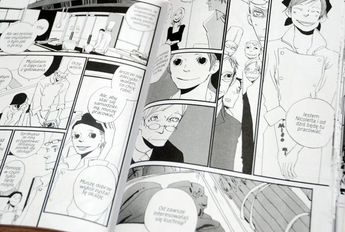 Wnętrze komiksu, pierwszy dzień pracy Nicoletty