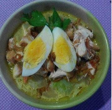 Resep Soto Ayam Kuah Santan