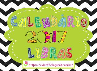 CALENDÁRIO 2016 EM LIBRAS