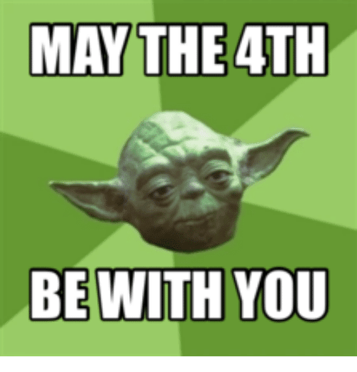 May The 4th Be With You Filter: Just A Quickie! May The 4th Be With You!