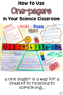 using one pagers in science class