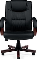 Leather and Wood Office Chair