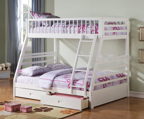 Bunk Bed For Three Kids Furniture For Twins And Triplets