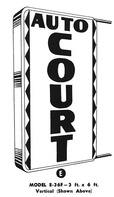 a 1953 hotel sign, zigzag, auto court