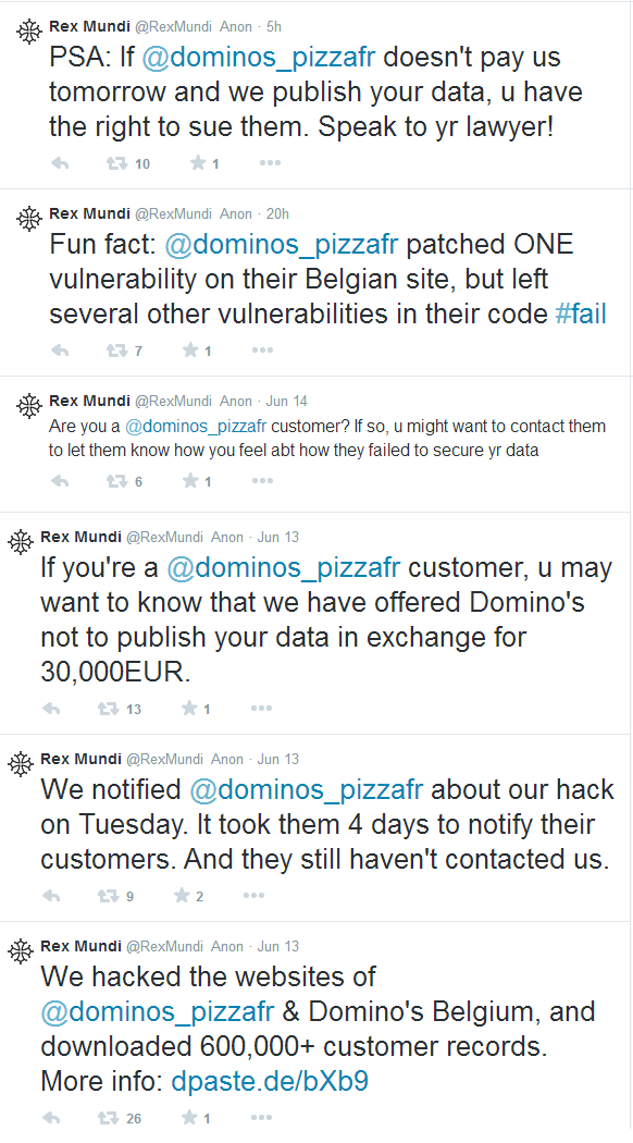 Domino's Pizza hacked with 650,000 customers' details at