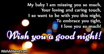 wish you a good night my dear boyfriend
