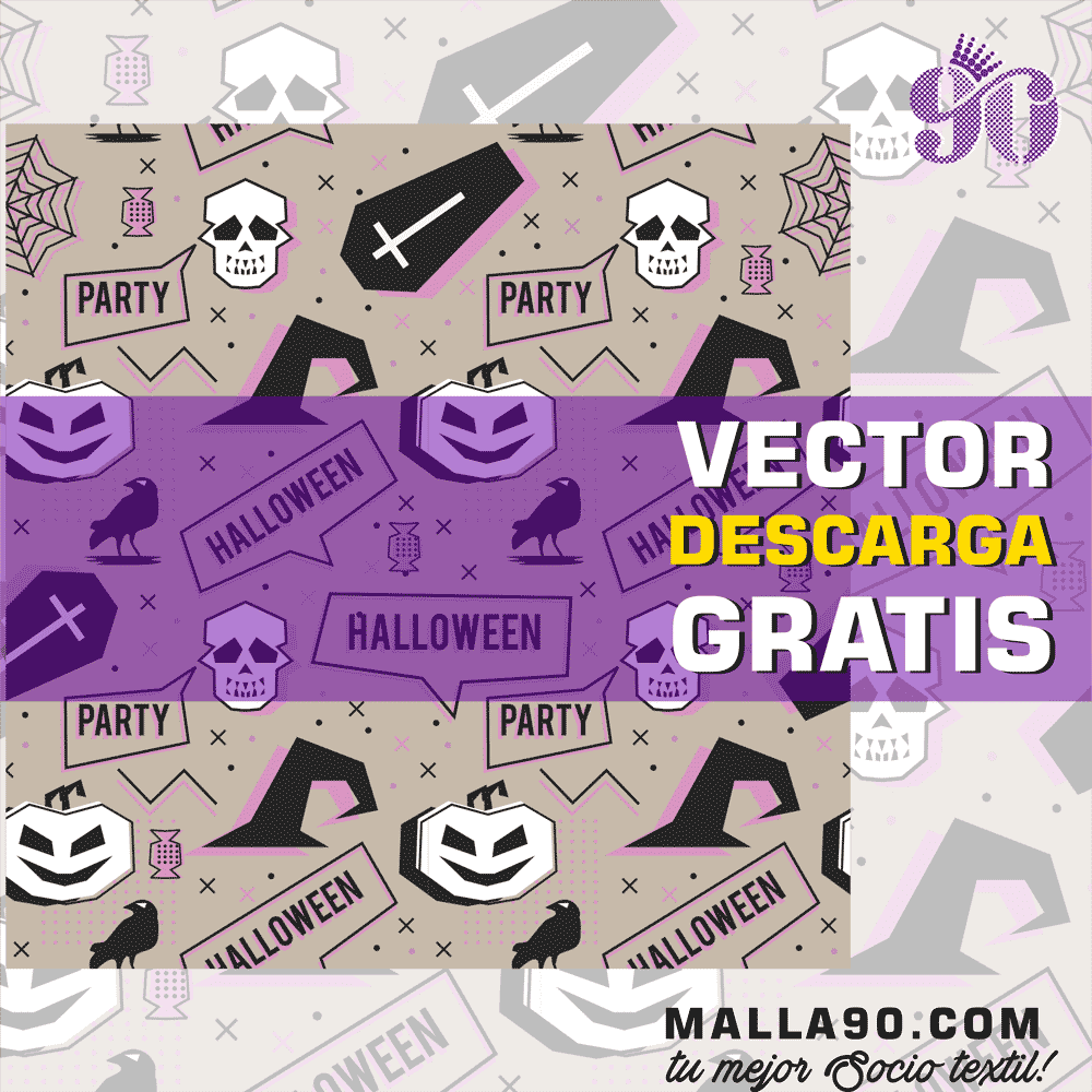 descarga vector de helloween patron party