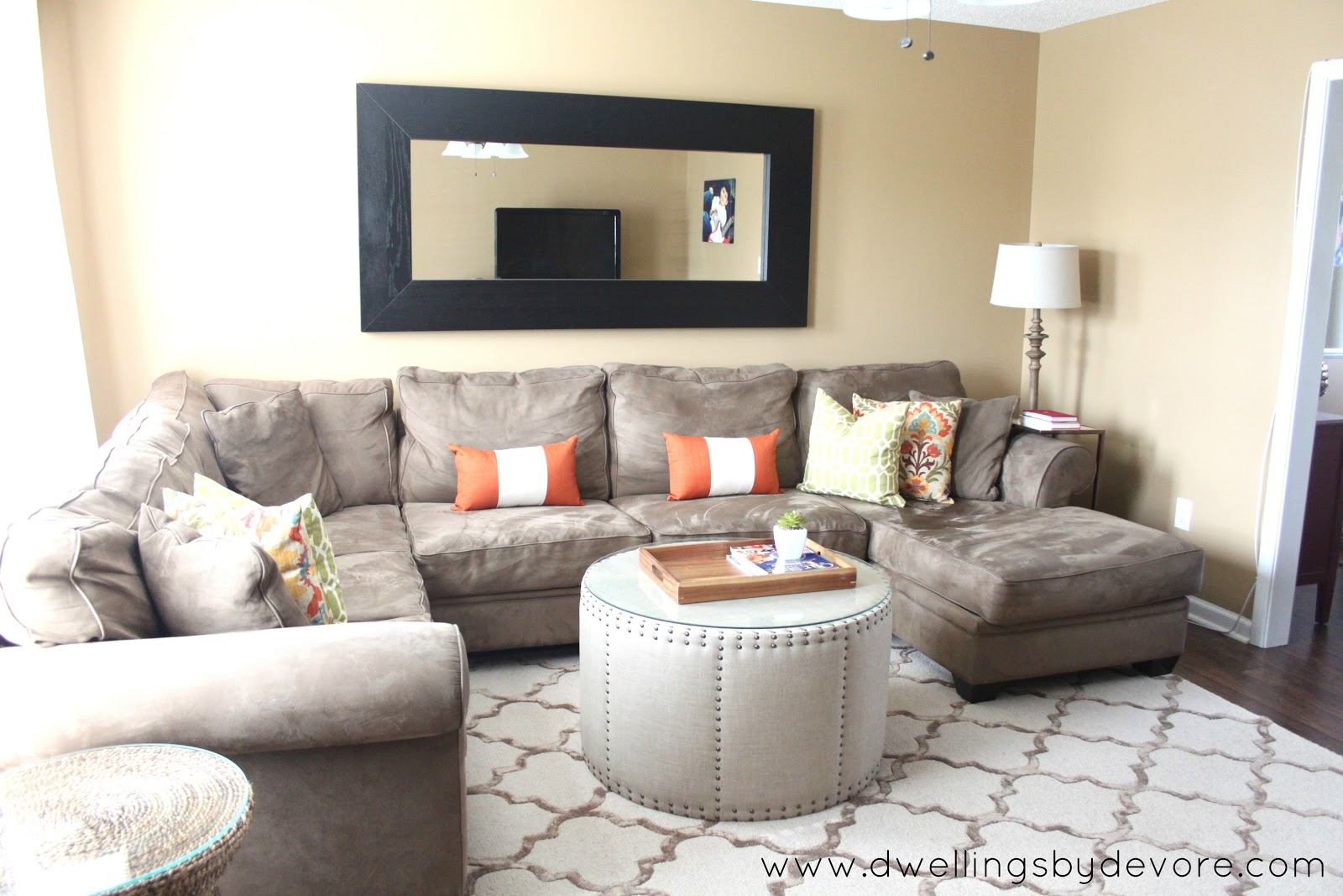 Large Sectional Sofa In Small Living Room Eurway Sleeper Dwellings By Devore Client Redesign