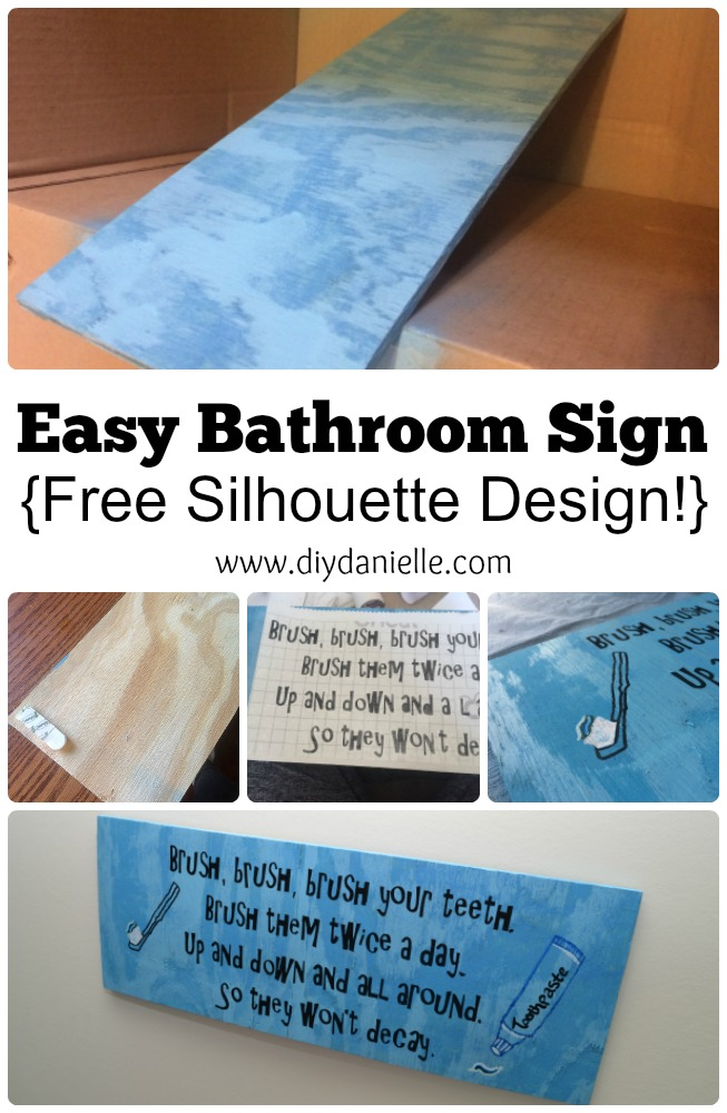 DIY Bathroom Sign for a Kids' Bathroom