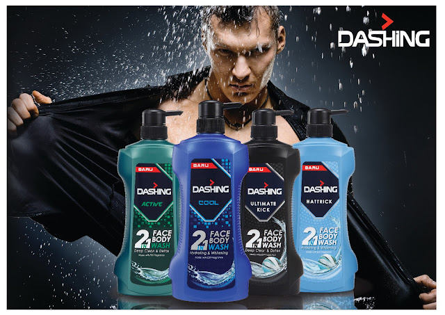 Sabun mandi Dashing 2 in 1 face body wash