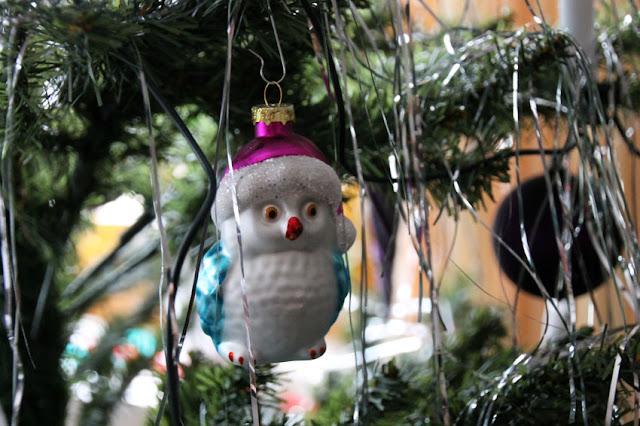 Anhänger Eule im Weihnachtsbaum