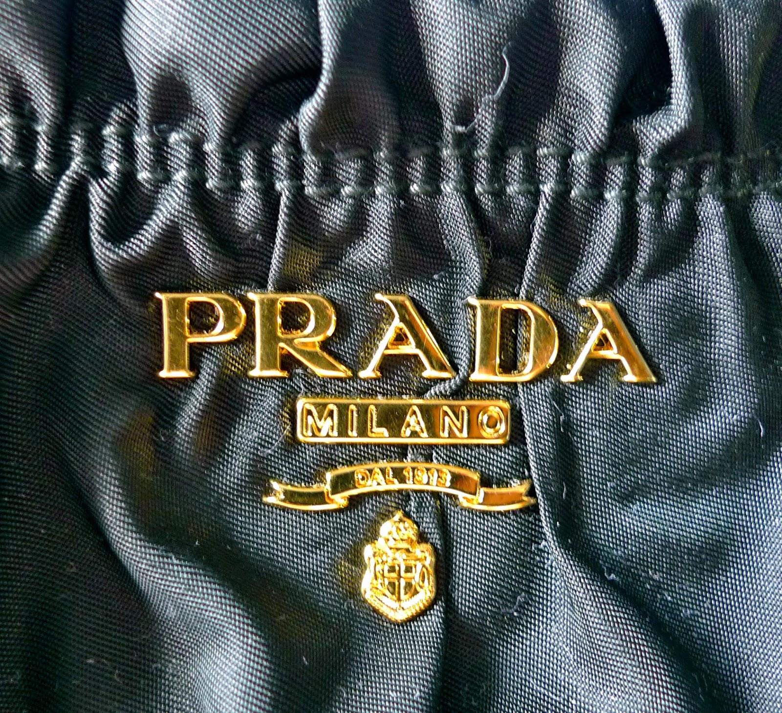 Real Vs Fake Prada Logo Proda Purse
