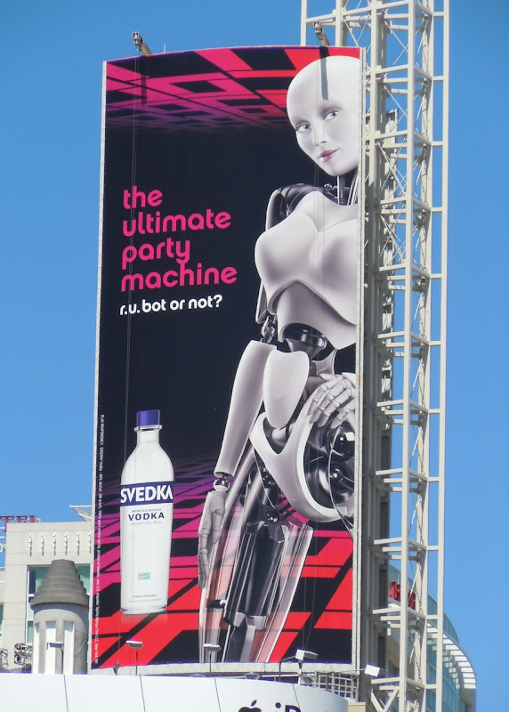 Svedka Vodka party machine billboard