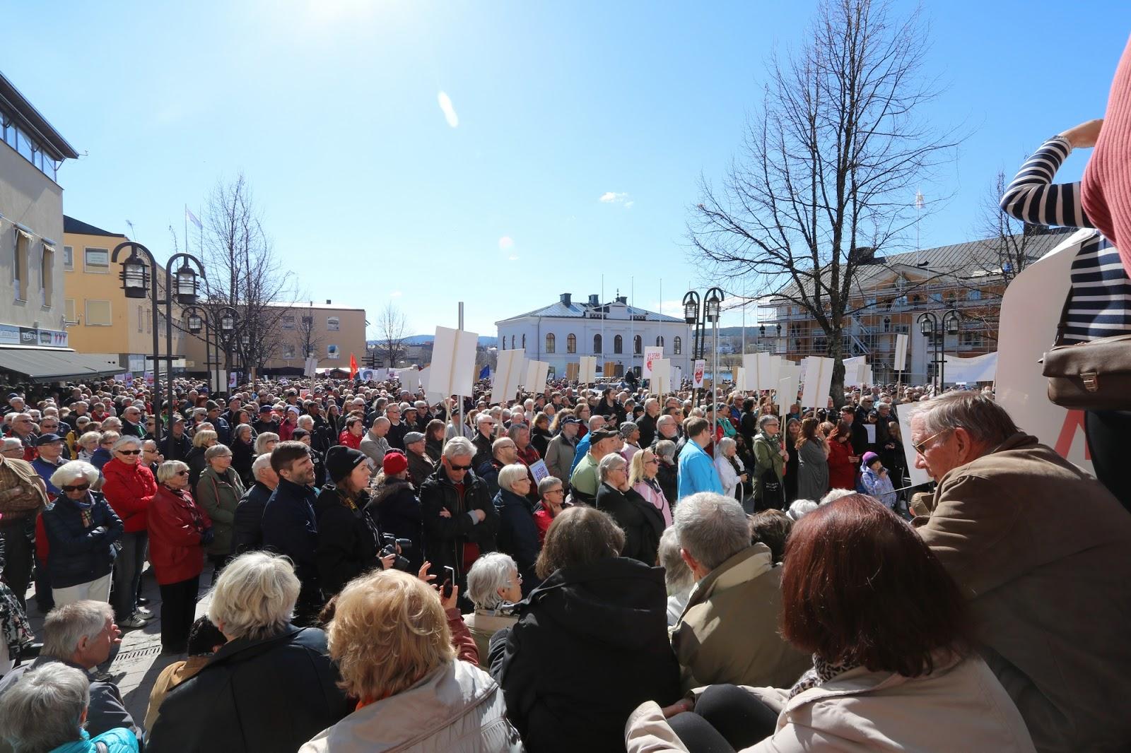 demonstration Härnösand, Ådalen reser sig, Sollefteå