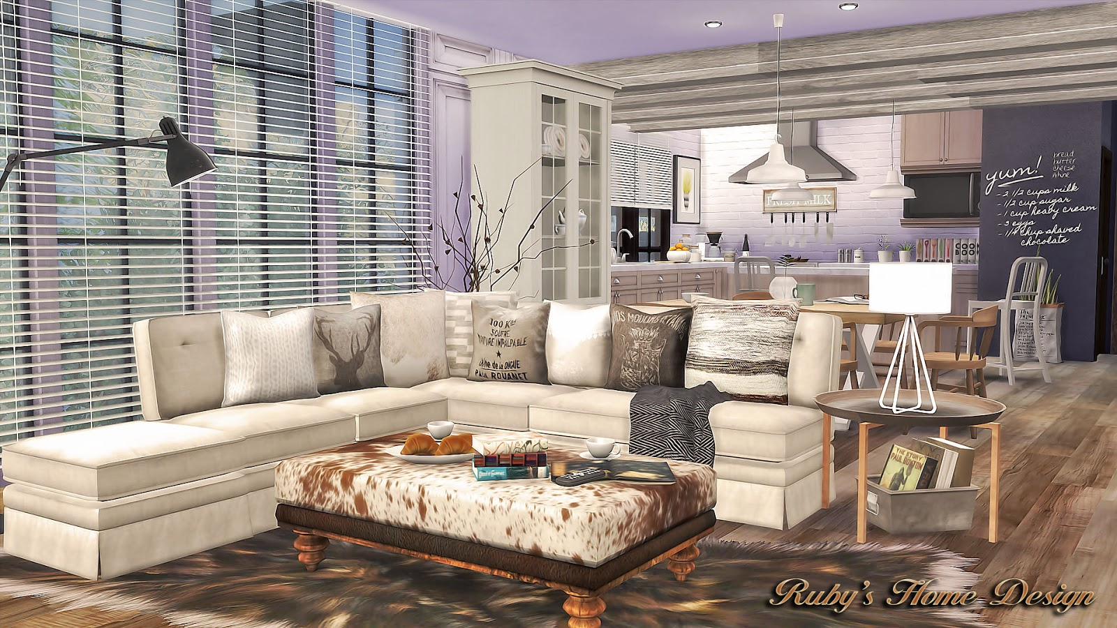 Sims4 Neutral Chic 現代鄉村宅 Fixed Seasons Expansion Pack
