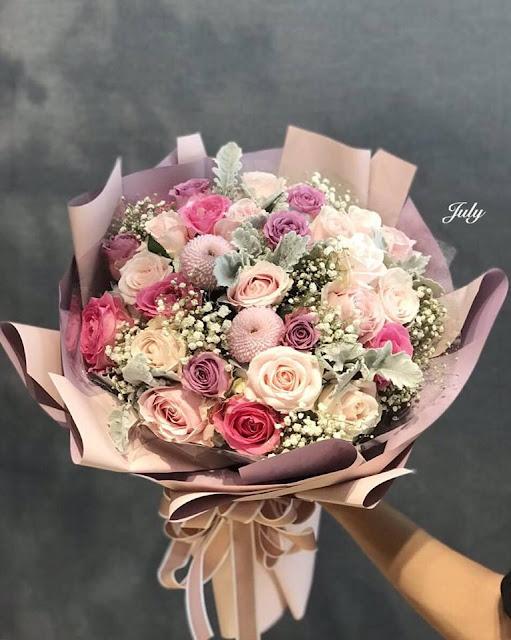 bóa hoa hồng sinh nhật