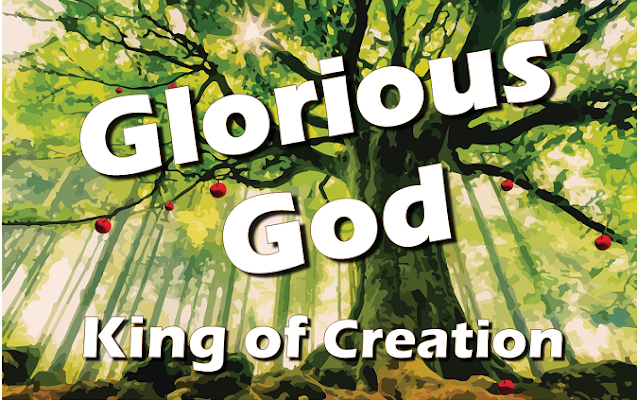 Glorious God, King of creation, we praise you, we bless you, we worship you in song; Glorious God, in adoration, at your feet we belong.  Chorus: Lord of life, Father almighty, Lord of hearts, Christ the King, Lord of love, Holy Spirit, To whom we homage bring.   2  Glorious God, magnificent, holy, we love you, adore you, we come to you in prayer. Glorious God, mighty eternal we sing your praise everywhere.  3 Glorious God, King of creation,  we praise you, we bless you, we worship you in song. Glorious God, in adoration, at your feet we belong.  Coda: Praise, honour, and glory are yours. Praise, honor, and glory are yours