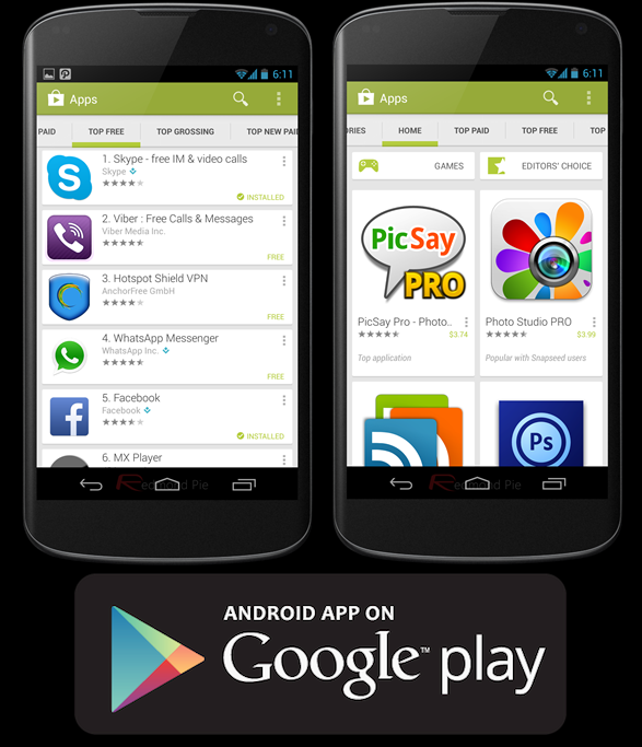 download google play store android tablet