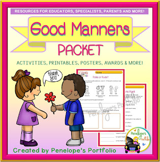 https://www.teacherspayteachers.com/Product/Good-Manners-3143101